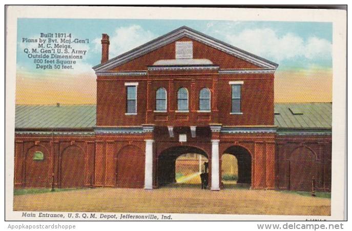 Indiana Jeffersonville Main Entrance United States Quarter Maste