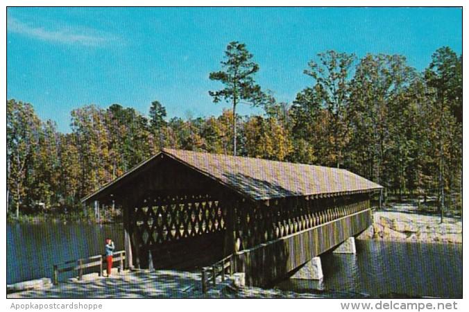 Georgia Atlanta Covered Bridge In Stone Mountain Memorial Park