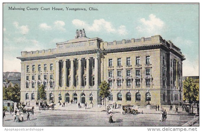 Ohio Youngstown Mahoning County Court House 1909 Curteich