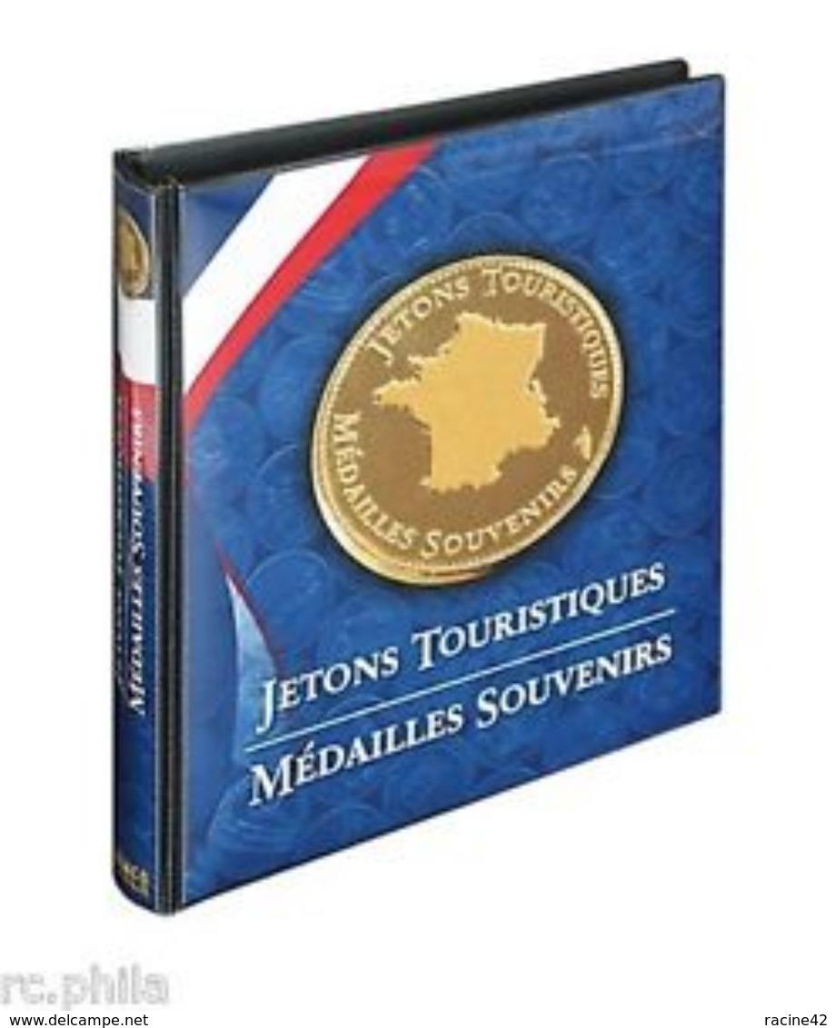 ALBUM NUMISMATIQUE POUR JETONS TOURISTIQUES -LINDNER - Touristiques