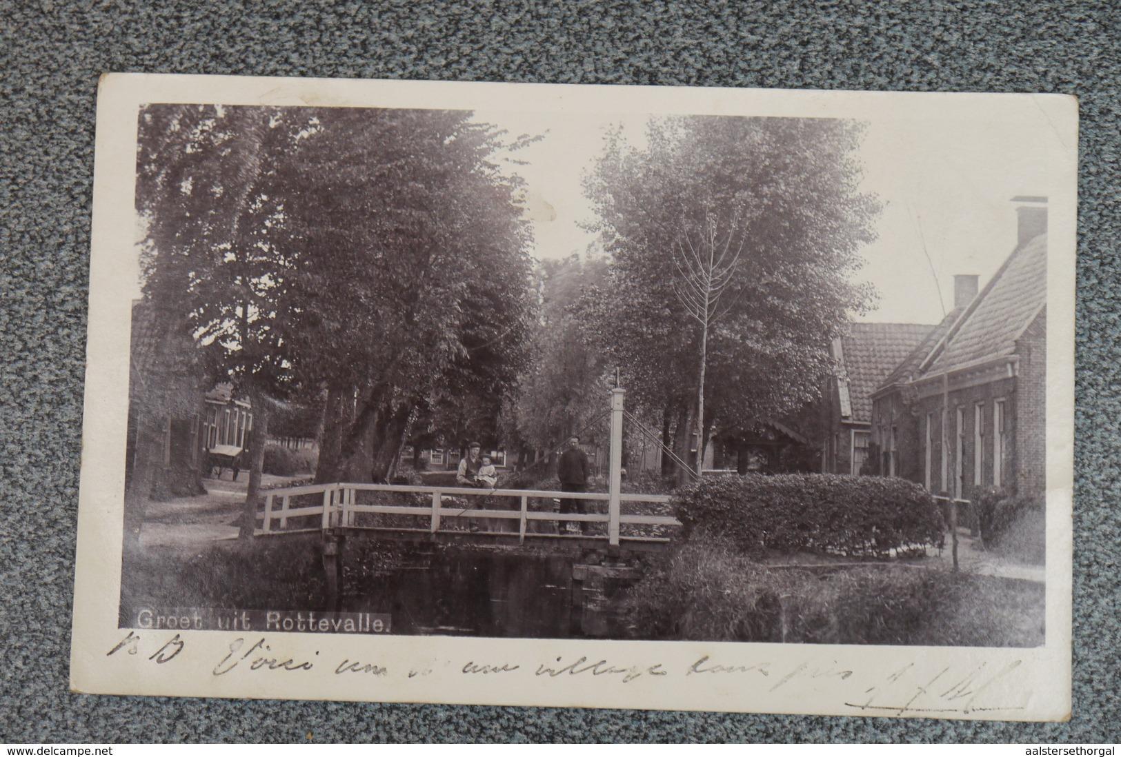 Drachten Rottevalle Postkaart Ansichtkaart Groet  Animatie   1902 - Drachten