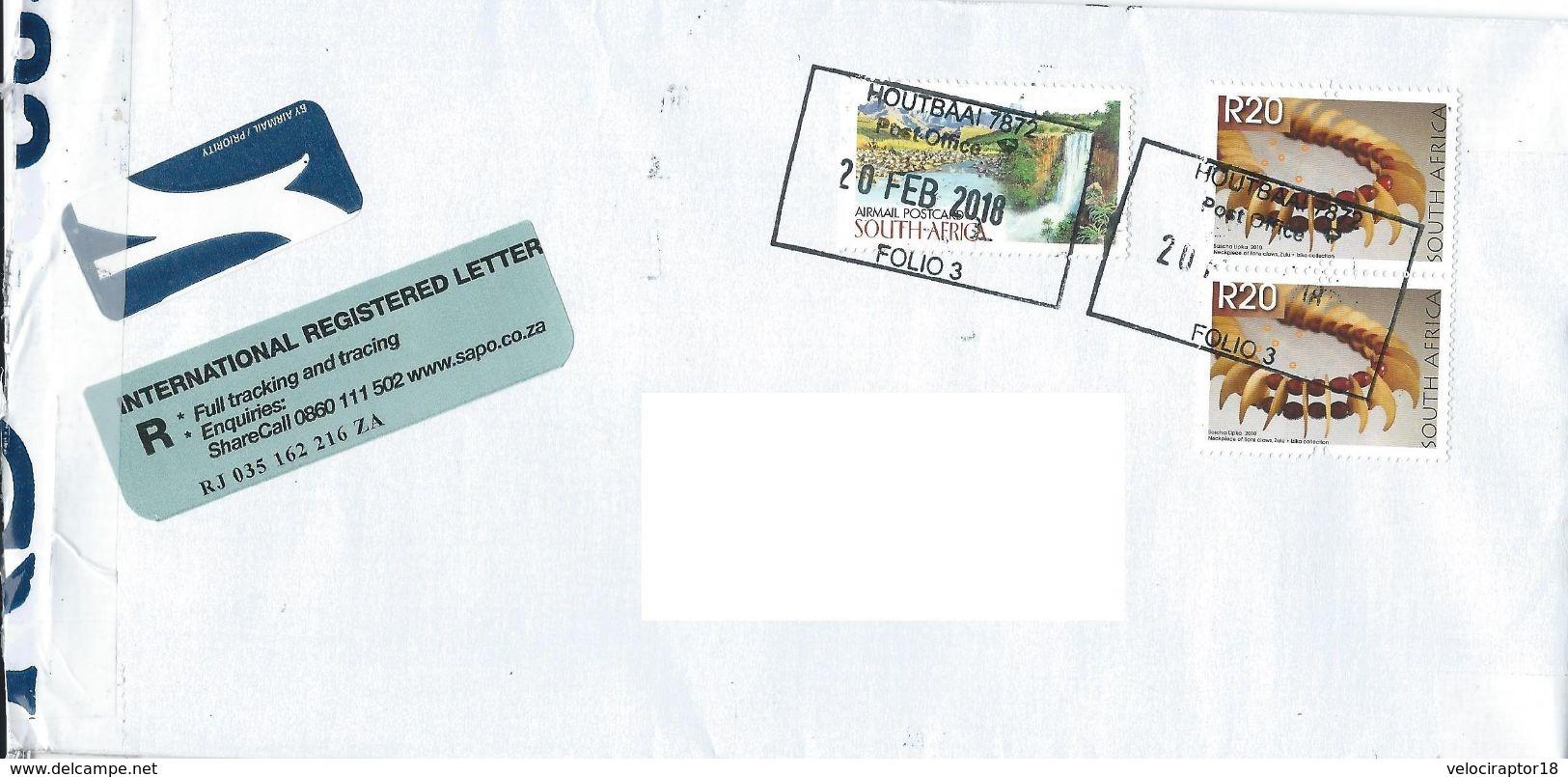 AFRIQUE DU SUD - Envelope Timbrée Avec Timbres De 2010 - Afrique Du Sud (1961-...)