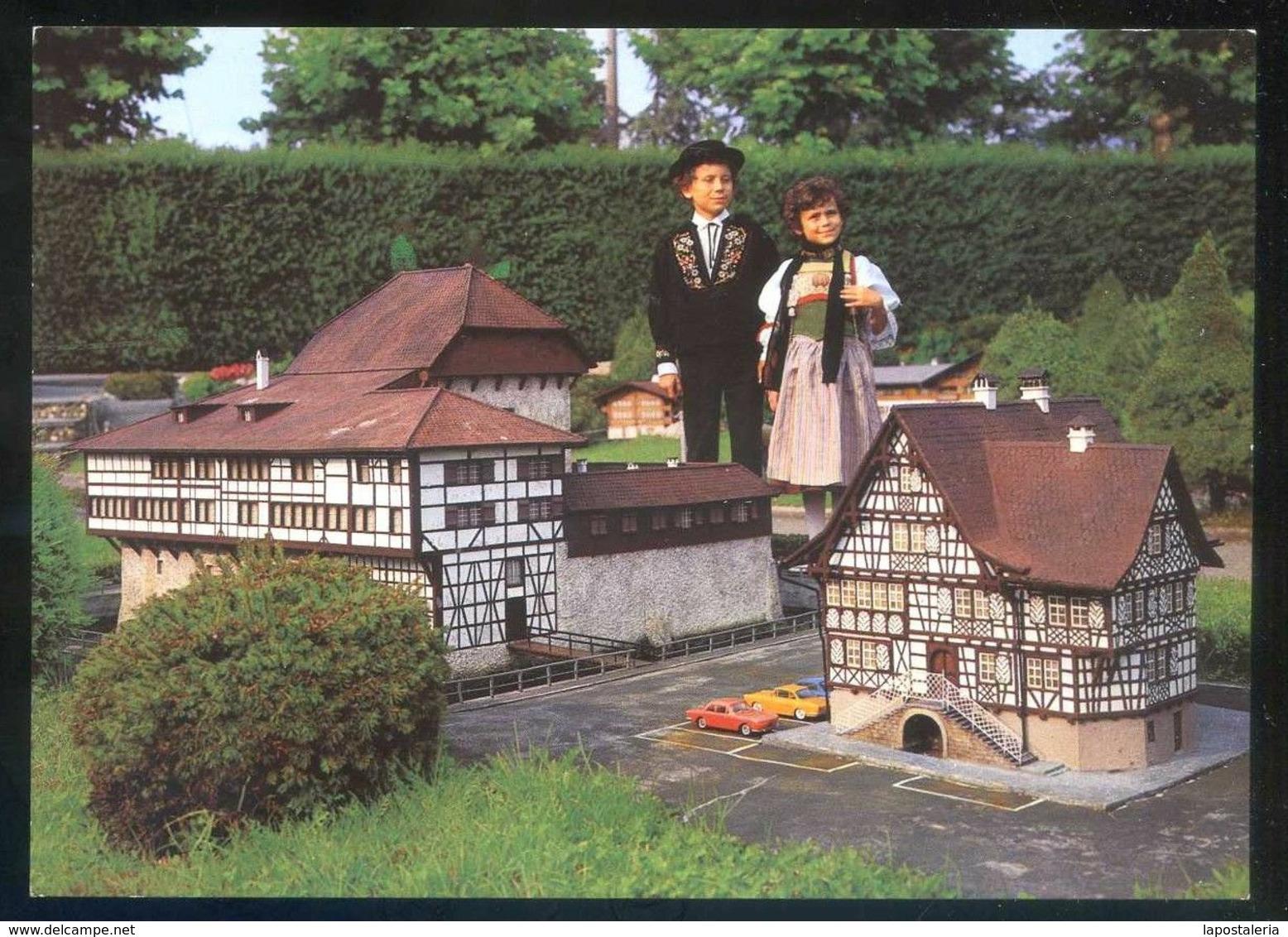 *Swissminiatur Melide-Lugano* Ed. K. Engelberger Nº 9518. Escrita. - Edificios & Arquitectura