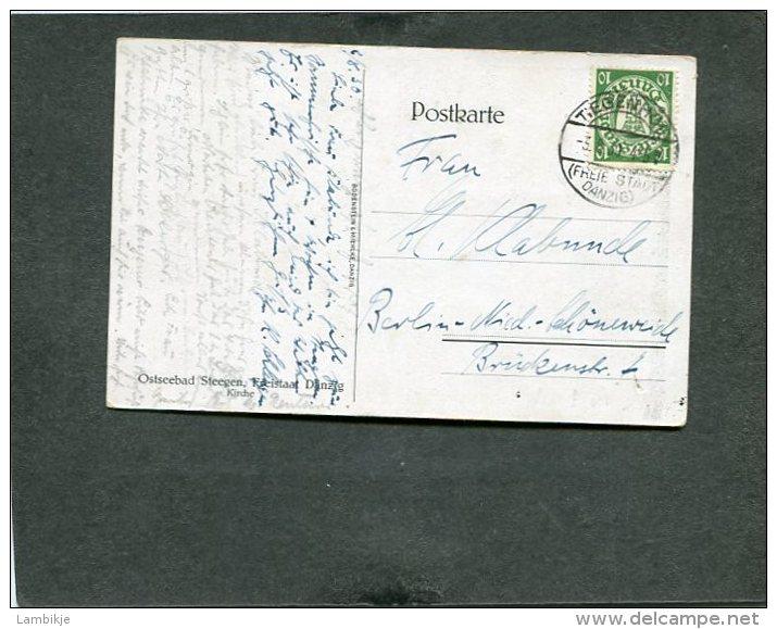 Deutsches Reich Danzig Postklarte 1930 Stempel Steegen - Danzig
