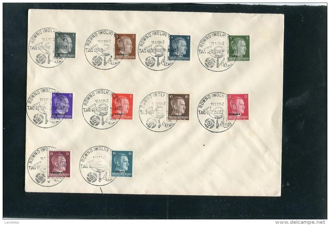 Deutsches Reich Brief Ukraine 1942 - Ohne Zuordnung