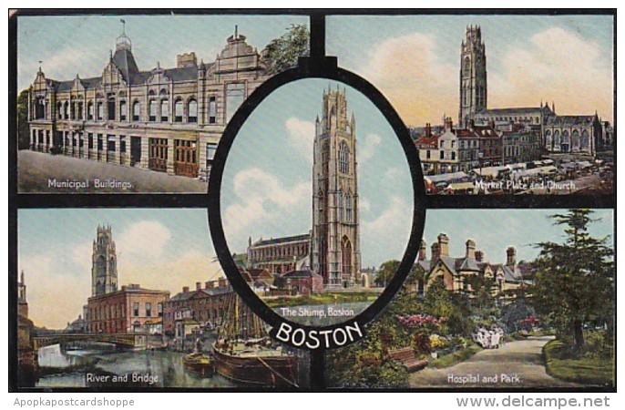 Massachusetts Boston Municipal Buildings River & Bridge Mark