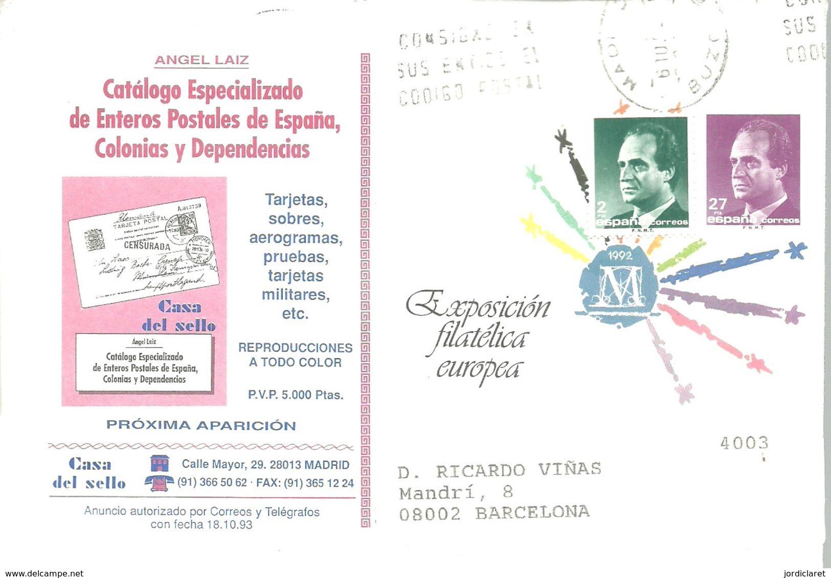 SEP PARTICULAR CIRCULADO A.LAIZ - Enteros Postales