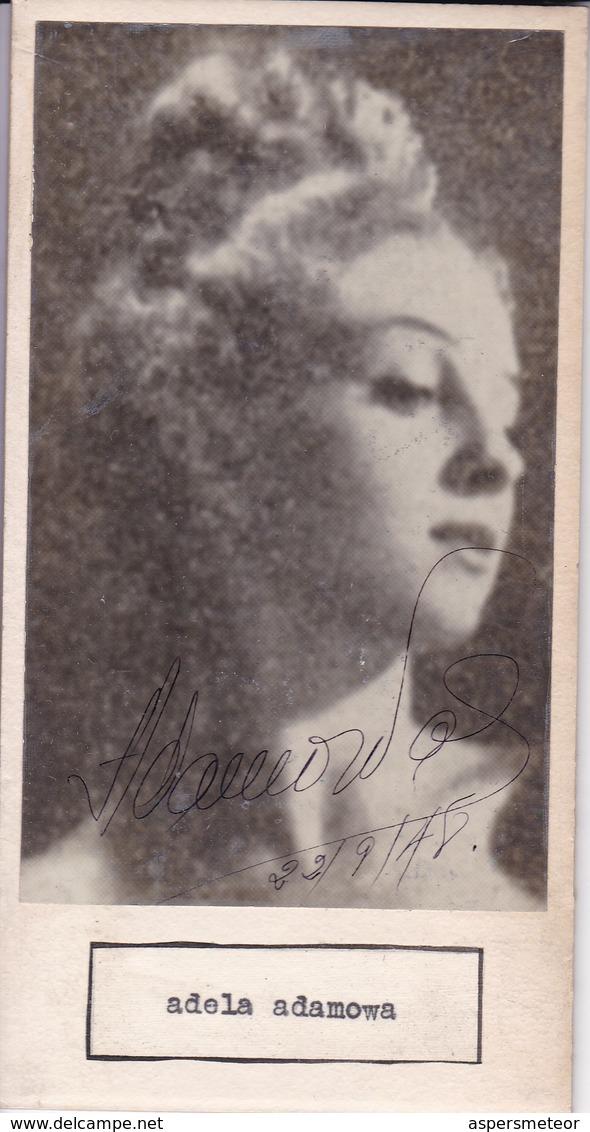 ESMERALDA AGOGLIA; ADELA ADAMOWA. AUTOGRAPHE AUTOGRAFO SIGNEE SIGNATURE AUTHENTIQUE ORIGINAL.-BLEUP - Autographs