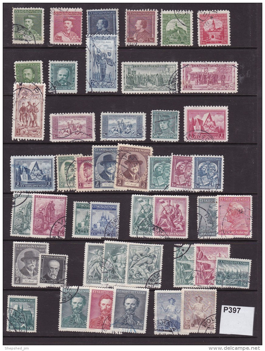 Czechoslovakia  1932-9 46 Commemorative Values - Used Stamps