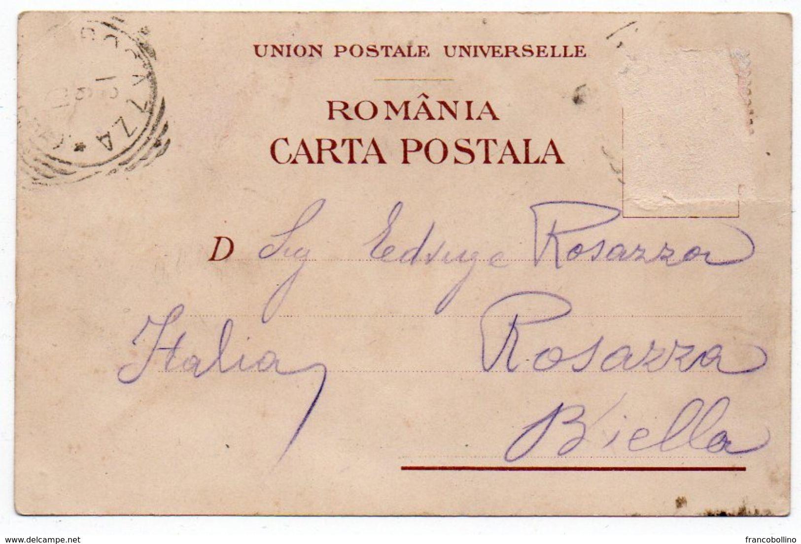 ROMANIA/ROUMANIE - SALUTARI DIN BUCURESCI/BUCURESTI - PALATUL TELEGRAFO-POSTAL / OLD COLOUR LITHO-1902 - Romania