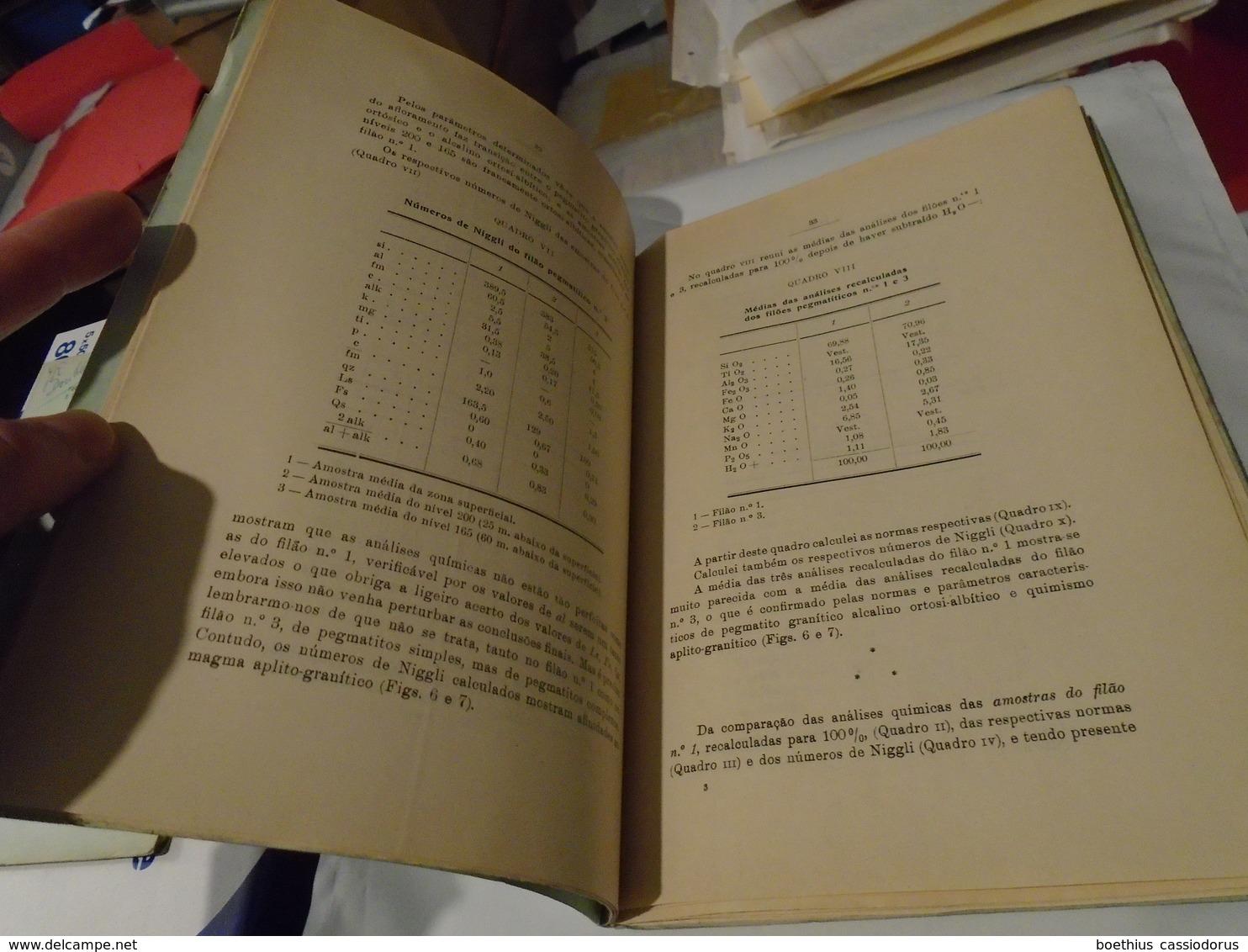 Museu E Laboratorio Mineralogico Geologico E Centro De Estudos Geologicos Universidade COÏMBRA. MEMORIAS NOTICIAS 36 - Livres, BD, Revues