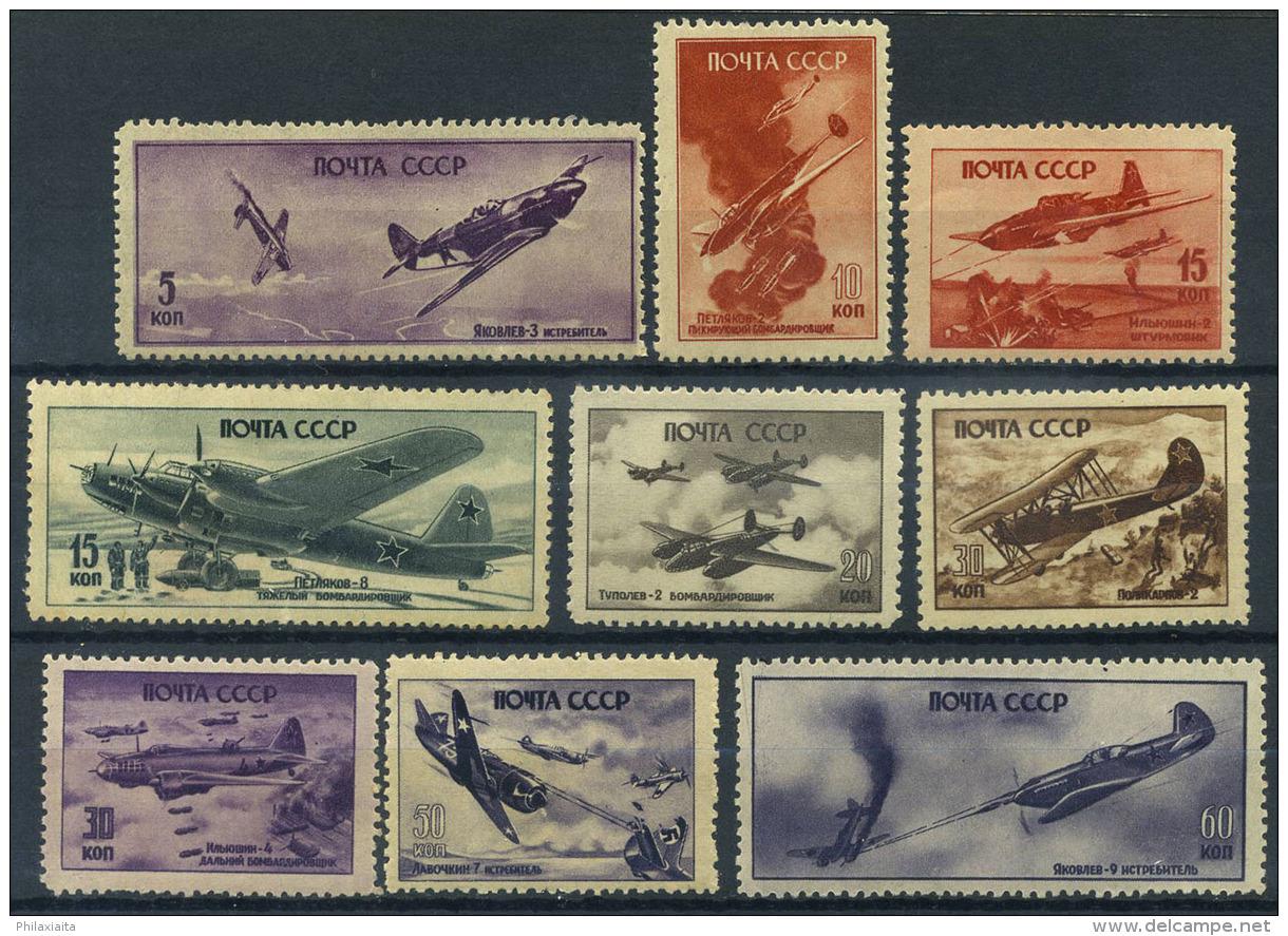 Unione Sovietica 1946 Mi. 1014-1022 Nuovo ** 80% Aviazione Sovietica - 1923-1991 USSR