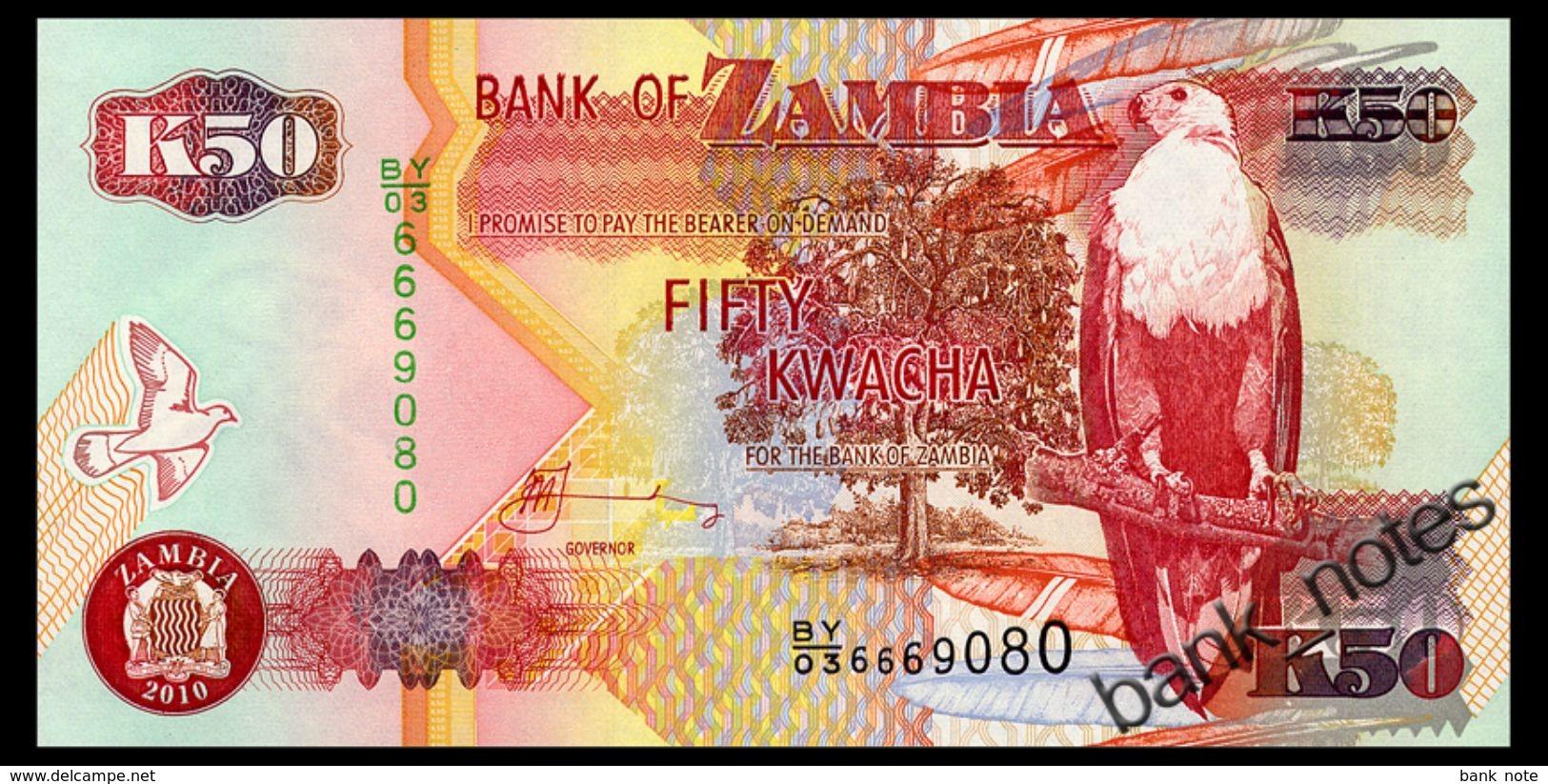 ZAMBIA 50 KWACHA 2010 Pick 37i Unc - Zambia