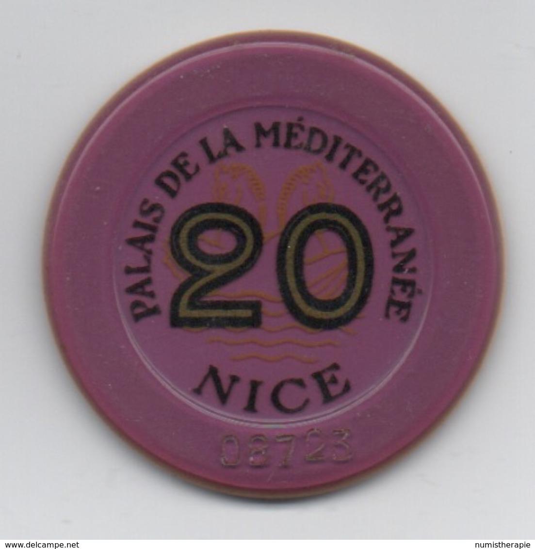 Jeton De Casino : Palais De La Méditerranée à Nice : 20 Francs - Casino
