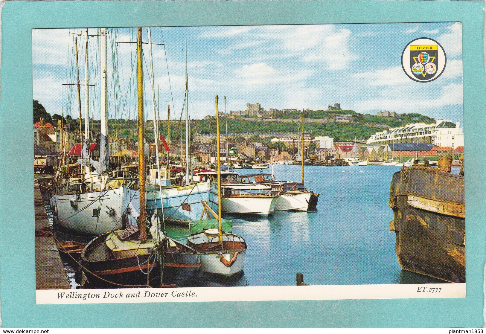 Old Small Postcard Of Wellington Dock And Dover Castle.Kent,England,R48. - Dover