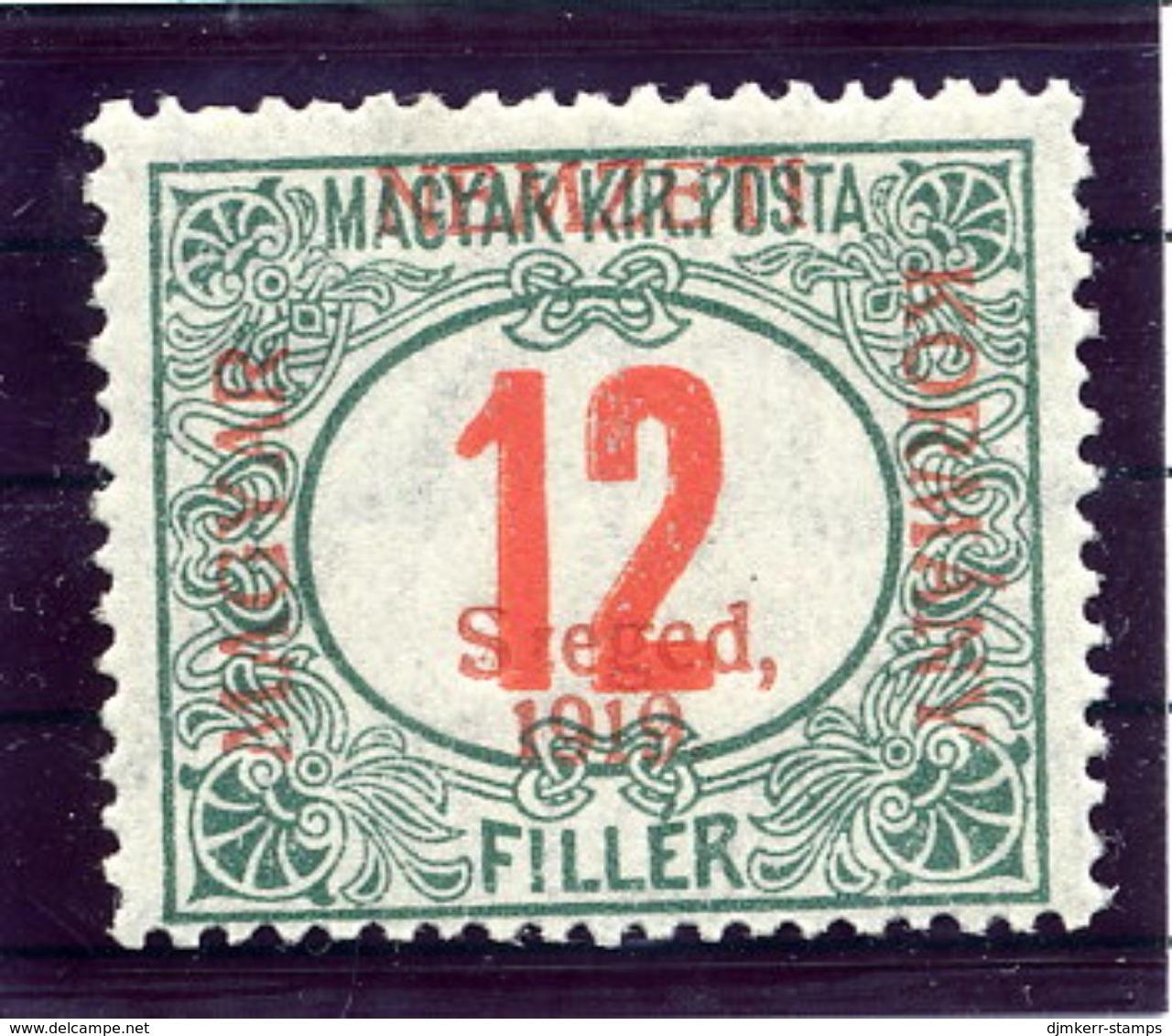 HUNGARY (SZEGED) 1919 Postage Due 12 F.  MNH / **.  Michel Porto 4 - Szeged