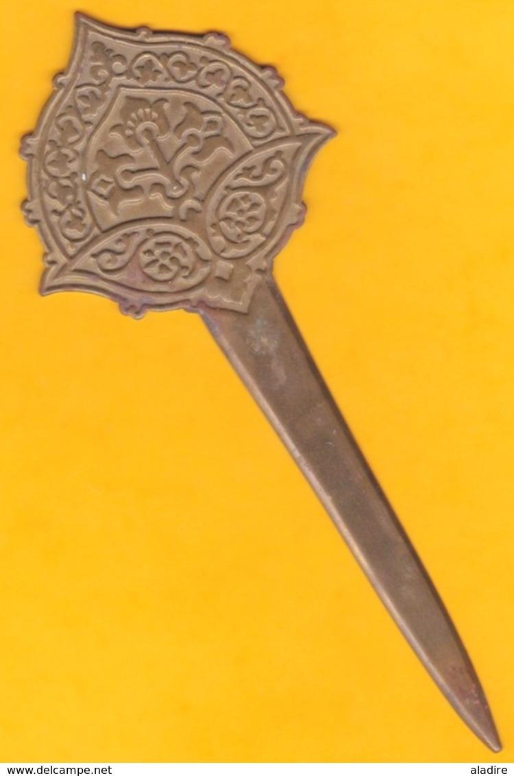 Coupe-papier En Cuivre - Origine Afrique De L'Ouest - épaisseur 2 Mm - Longueur 20,5 Cm - Art Africain