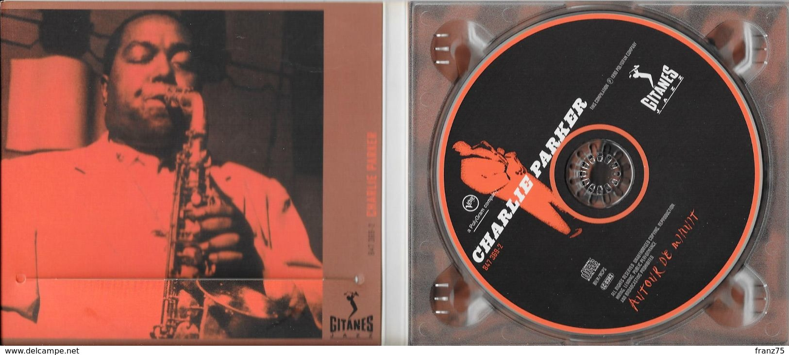 """Charlie PARKER-""""Autour De Minuit""""-Verve 1990-TBE - Jazz"""