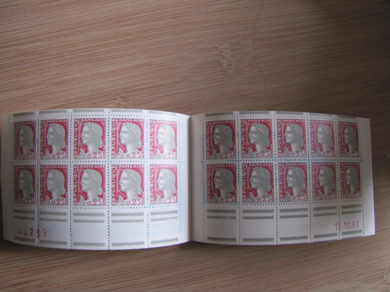 CARNET MARIANNE DE DECARIS 1263 S-20-63  AVEC VARIETE DE DECOUPE - Carnets