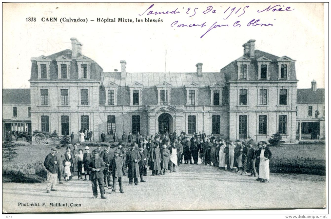 N°61004 -cpa Caen -hôpital Mixte, Les Blessés- - Caen
