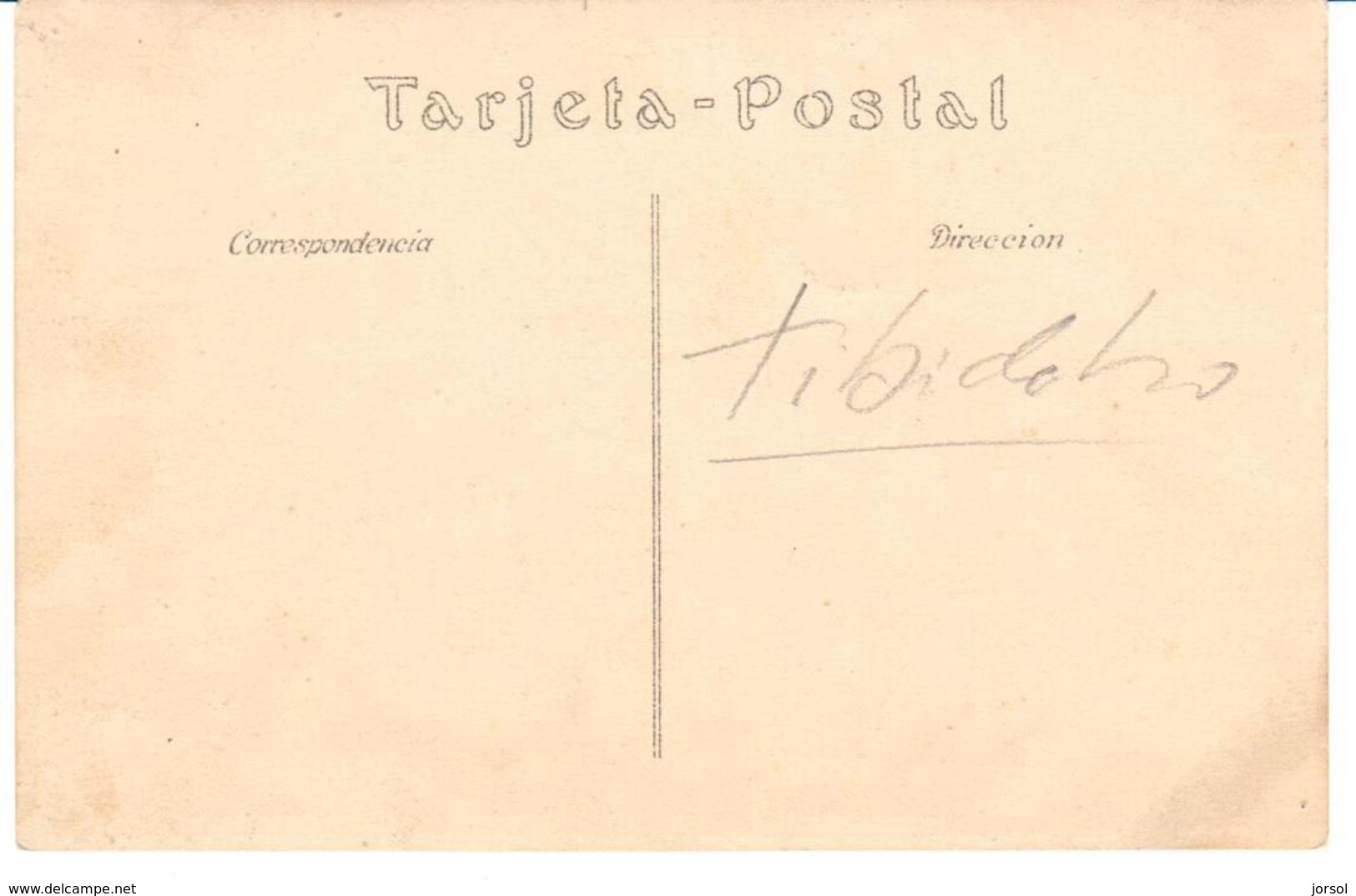 POSTAL   FOTOGRAFIA DE UNA REUNION EN EL TIBIDABO - Fotografía
