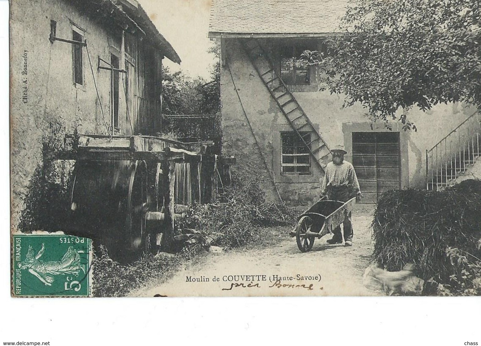 Cpa-moulin De Couvette(74)-(animée) - France