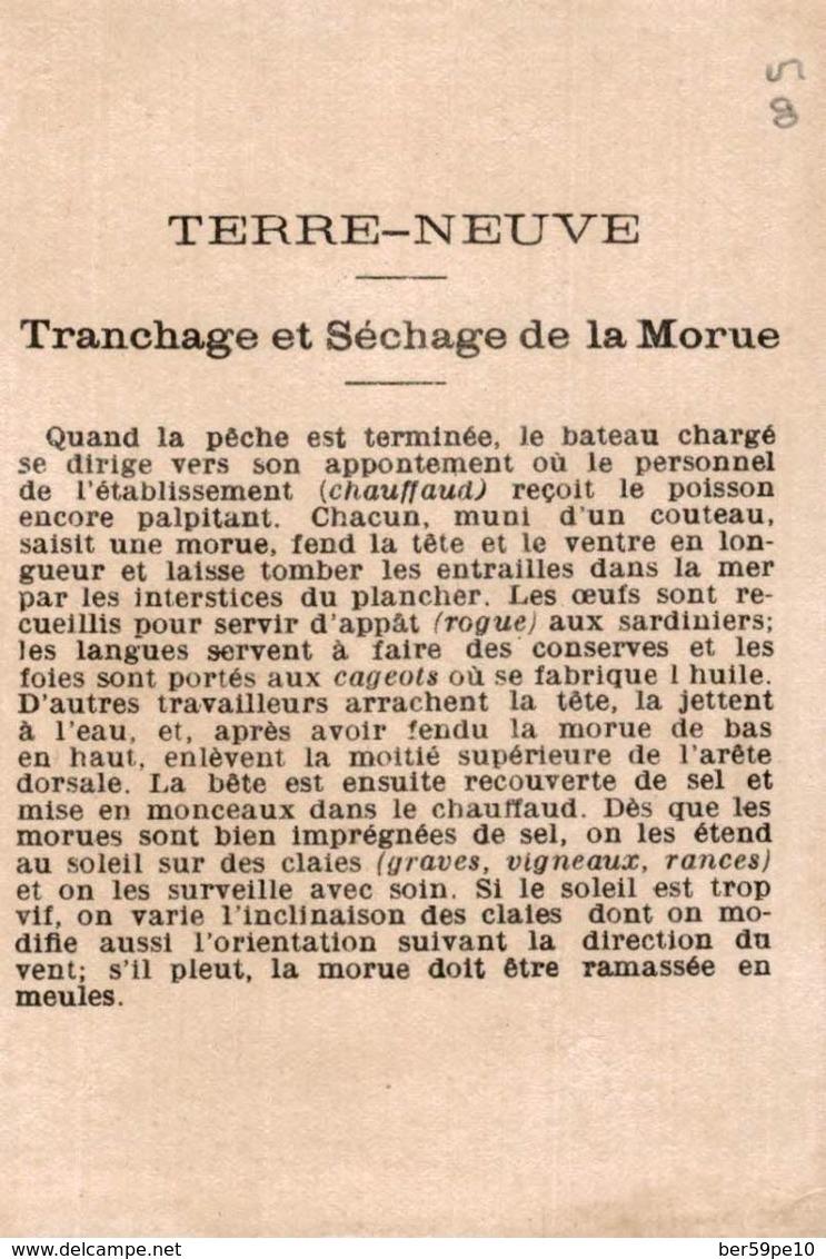 CHROMO  TERRE-NEUVE TRANCHAGE ET SECHAGE DE LA MORUE - Otros