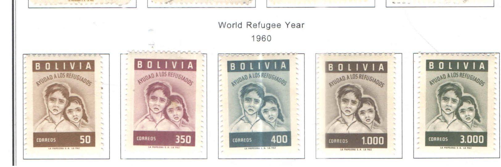 Bolivia PO 1960 Anno Rifugiati   Scott.418/422+See Scans On Scott.Page - Bolivia