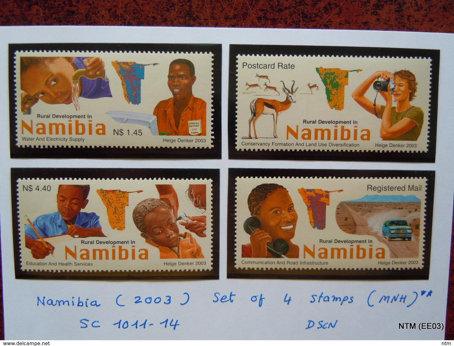 NAMIBIA Year: 2003, Set Of 4 Stamps On Rural Developments In Namibia (MNH) Scott: 1011-14, MI: 1102-1105 - Namibia (1990- ...)