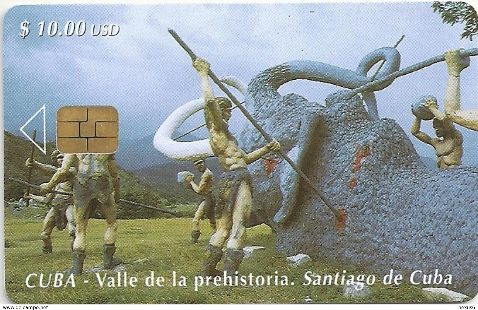 Cuba - Etecsa - Prehistoric Valley 2 - 04.2000, 30.000ex, Used - Cuba