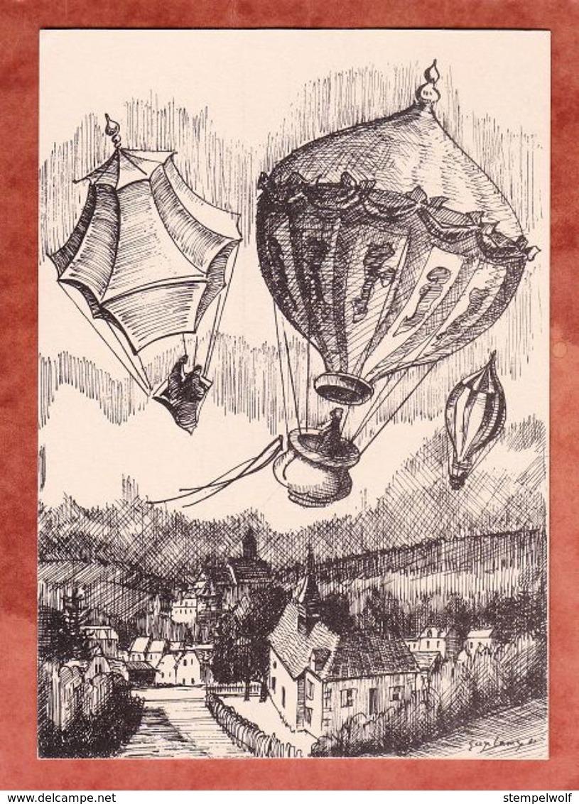 Karte, Heissluftballon-Meisterschaft, EF Piccard + Vignette, Porrentruy Nach Delemont 1981 (49519) - Suisse