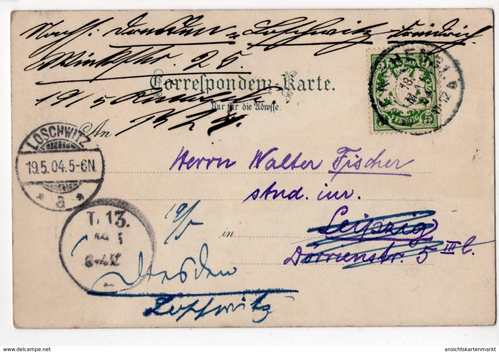 Tiers Mit Dem Rosengarten, Künstler Postkarte Nach M. Zena Diemer 1904, Tires Italia - Bolzano (Bozen)
