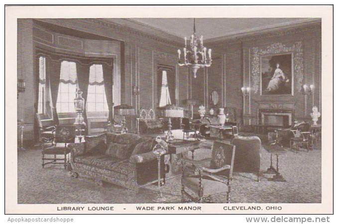 Ohio Cleveland Library Lounge Wade Park Manor