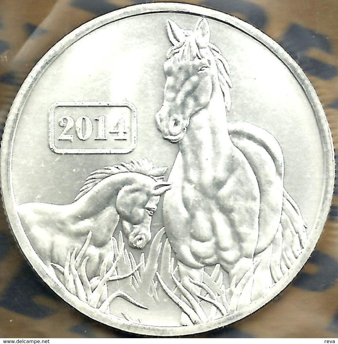 TOKELAU $5 YEAR OF THE HORSE CHINESE ZODIAC FRONT QEII BACK 2014 AG SILVER 1Oz UNC KM? READ DESCRIPTION CAREFULLY !!! - Monnaies