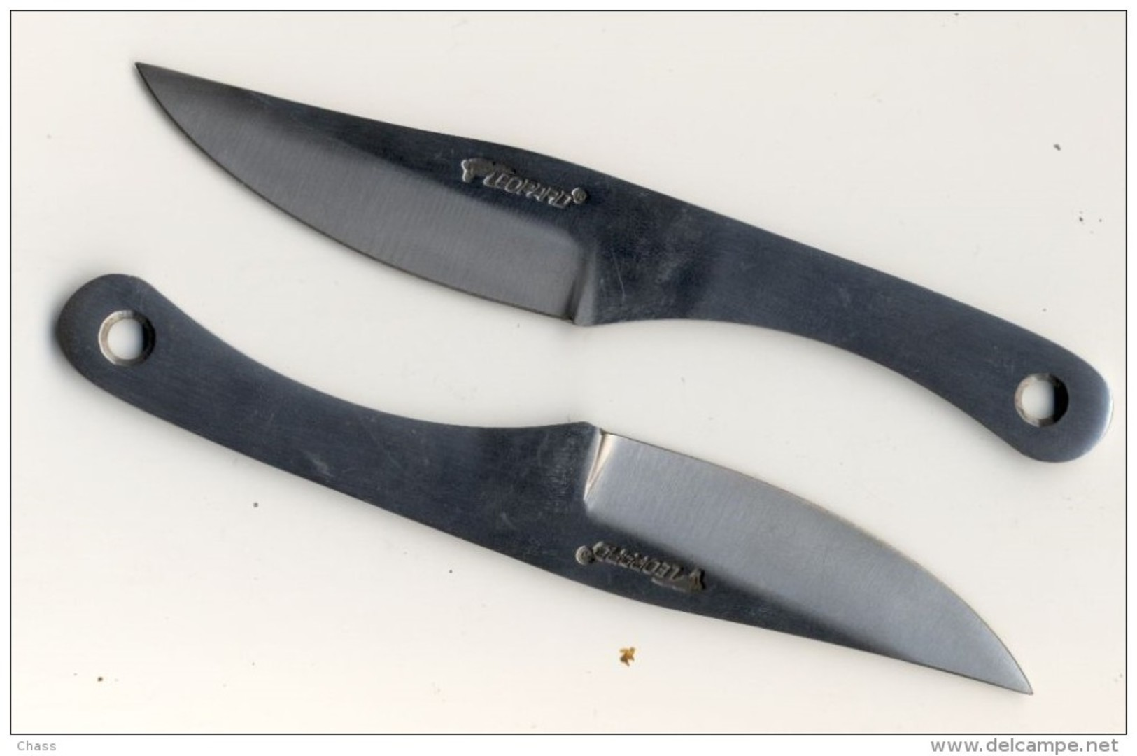 2 Couteaux De Lancer Marque Leopard - Armes Blanches