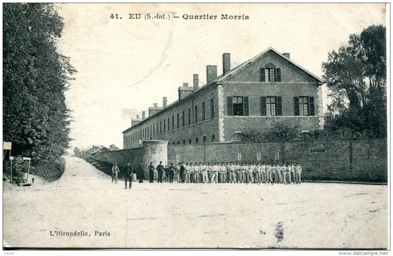 N°61124 -cpa Eu -quartier Morris- - Kazerne