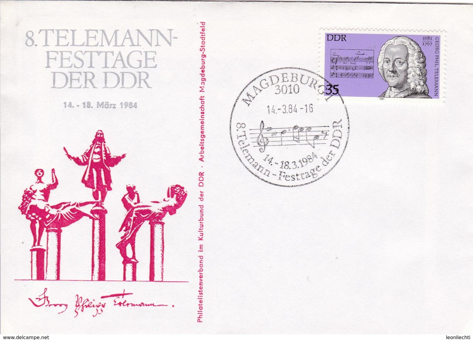 DDR Magdeburg   8. Telemann Festtage Der DDR. Mi: 2606 George P. Telemann. - Lettres & Documents