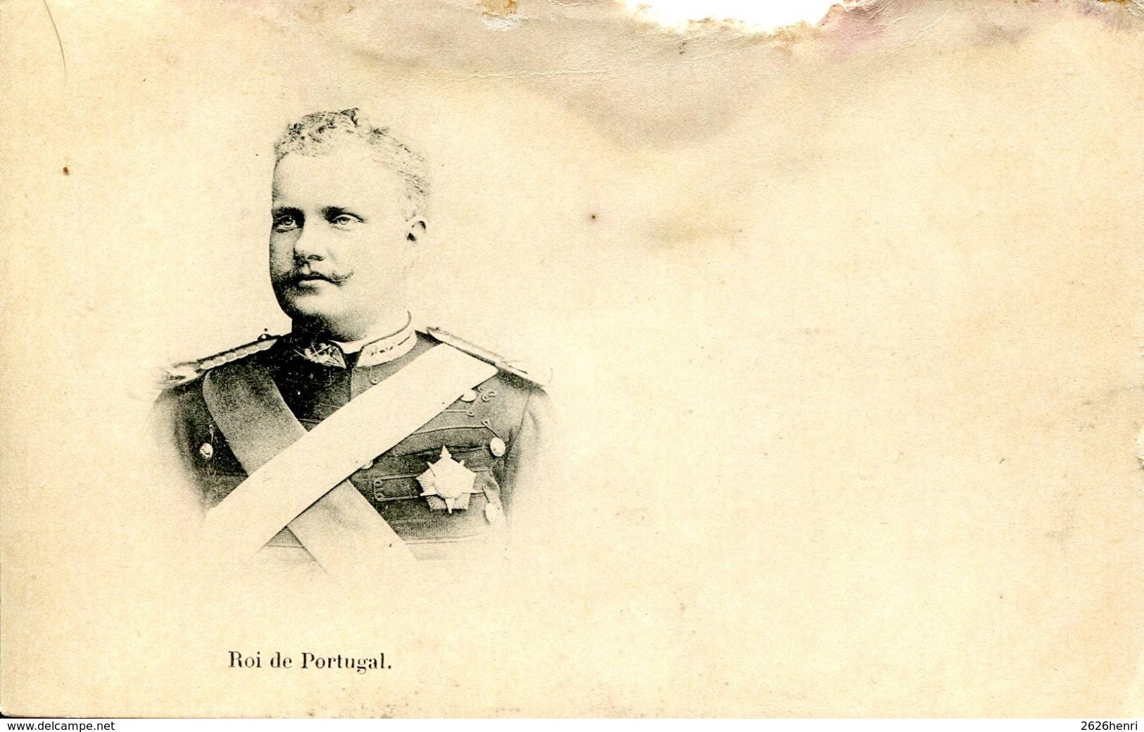 2 CPAs Portugal, Reine Amélie D'Orléans Et Roi Charles 1er De Portugal - Familles Royales