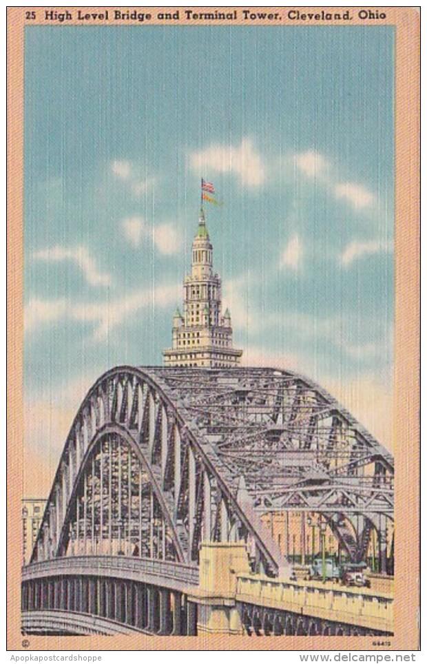 Ohio Cleveland High Level Bridge and Terminal Tower
