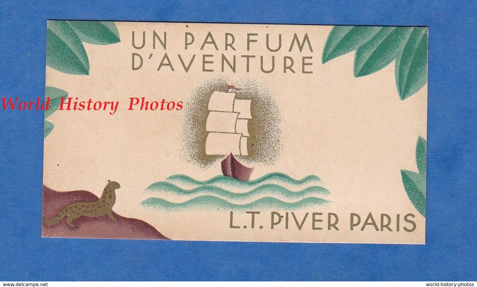 Carte Ancienne Parfumée - Calendrier 1933 / 1934 - Maison L.T. PIVER Parfumeur PARIS - Parfum D'Aventure - Maquet Grav. - Calendriers