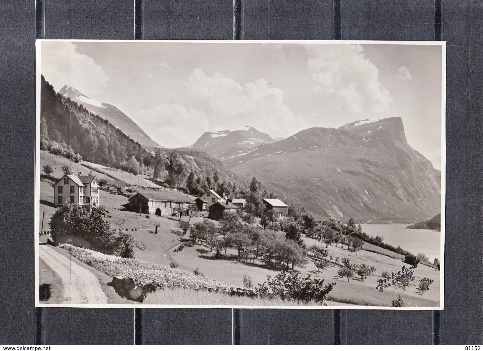 From The Road To EIKESDAL  Norvege  Lot De 2 Photos Glacees Originales De  Dim 17cm X 12 Cm - Lugares