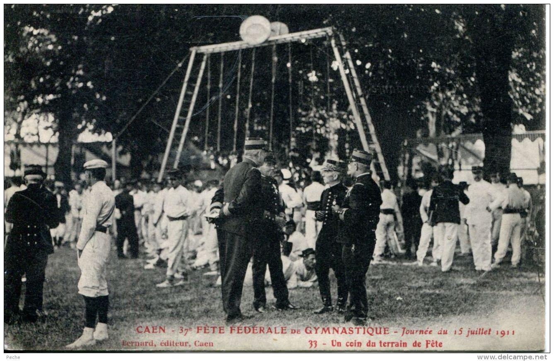 N°61145 -cpa Caen -fête Fédérale De Gymnastique -un Coin Du Terrain De Fête- - Caen