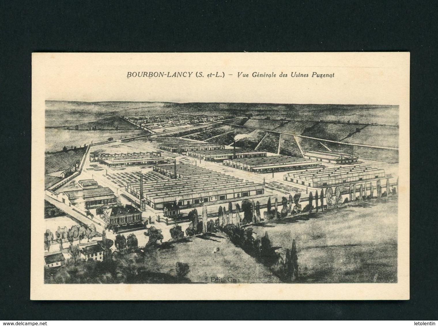 CPA - 71 - BOURBON-LANCY - VUE GENERALE DES USINES PUZENAT - Autres Communes