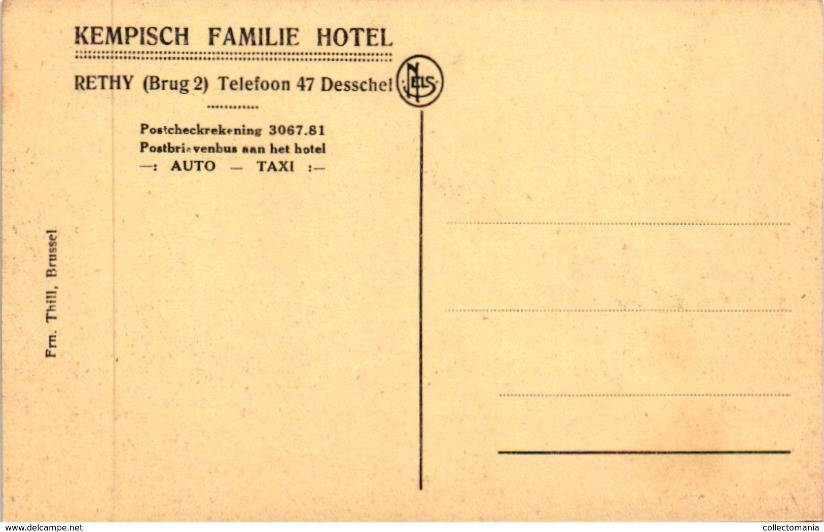 4 CP Postel  Steenweg Brug 2 Kempisch Familiehotel Rethy Telefoon 47 Desschel   Abdij - Retie