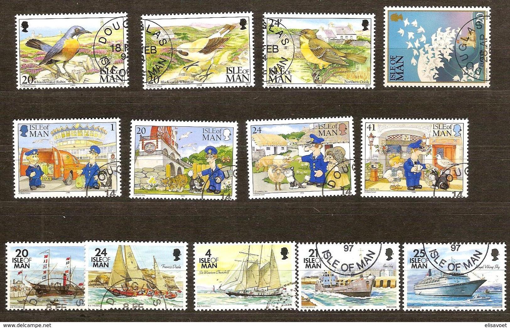 Île De Man 1994-1997  Yvertn°  Entre 606 Et 786  (°) Oblitéré Used Cote 14,25 Euro  Divers - Man (Ile De)