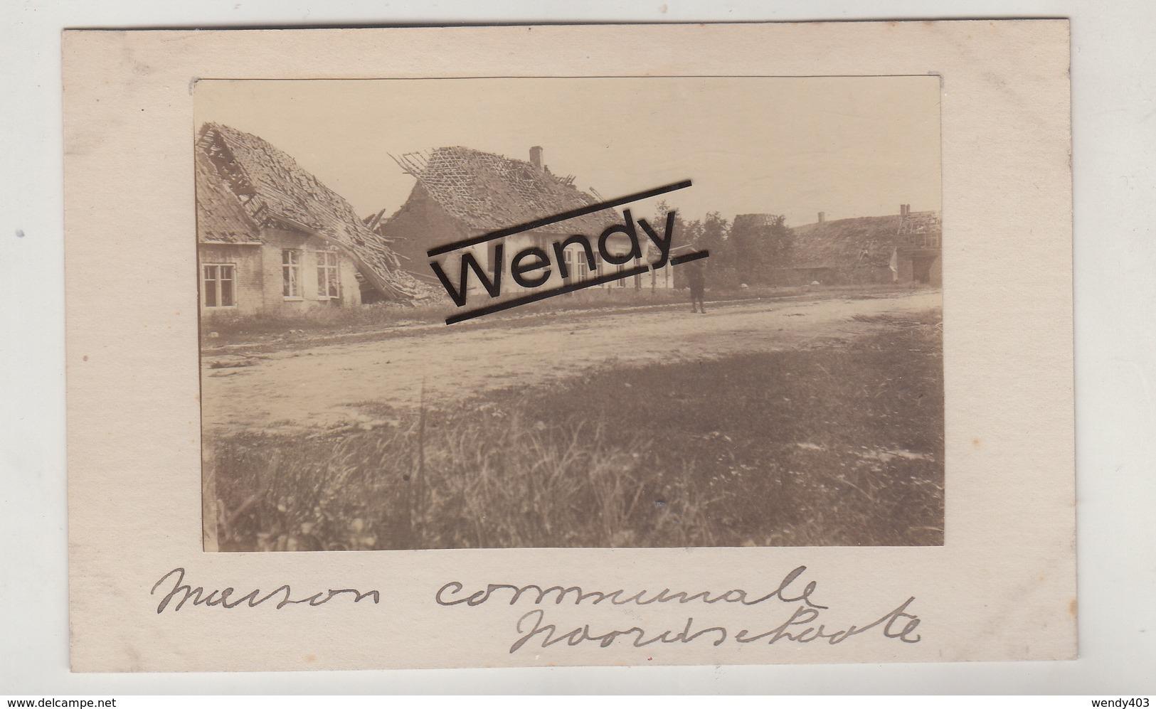 Noordschoote (één Kaart Uit Oud Origineel Album - Maison Communale) - Lo-Reninge