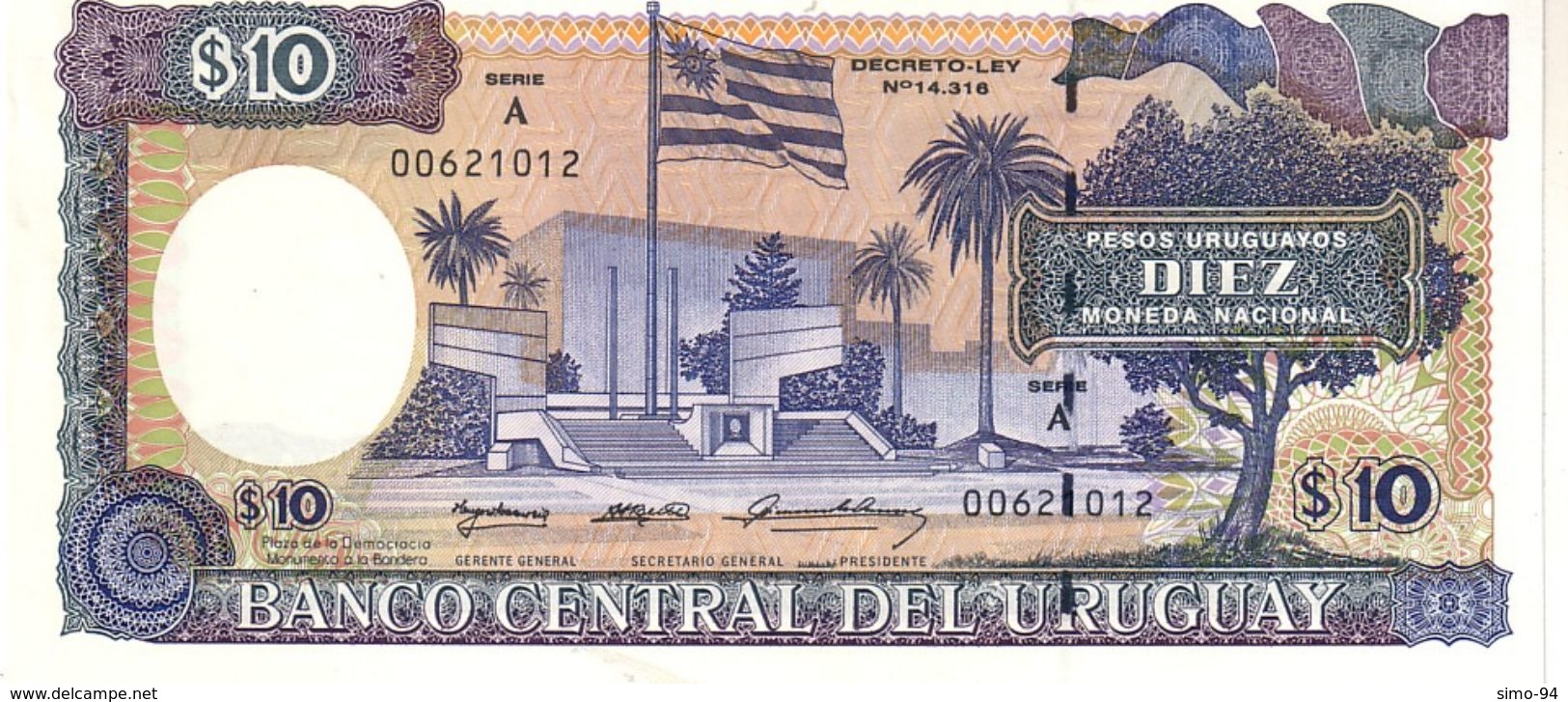 Uruguay P.73b 10 Pesos 1995   Unc - Uruguay