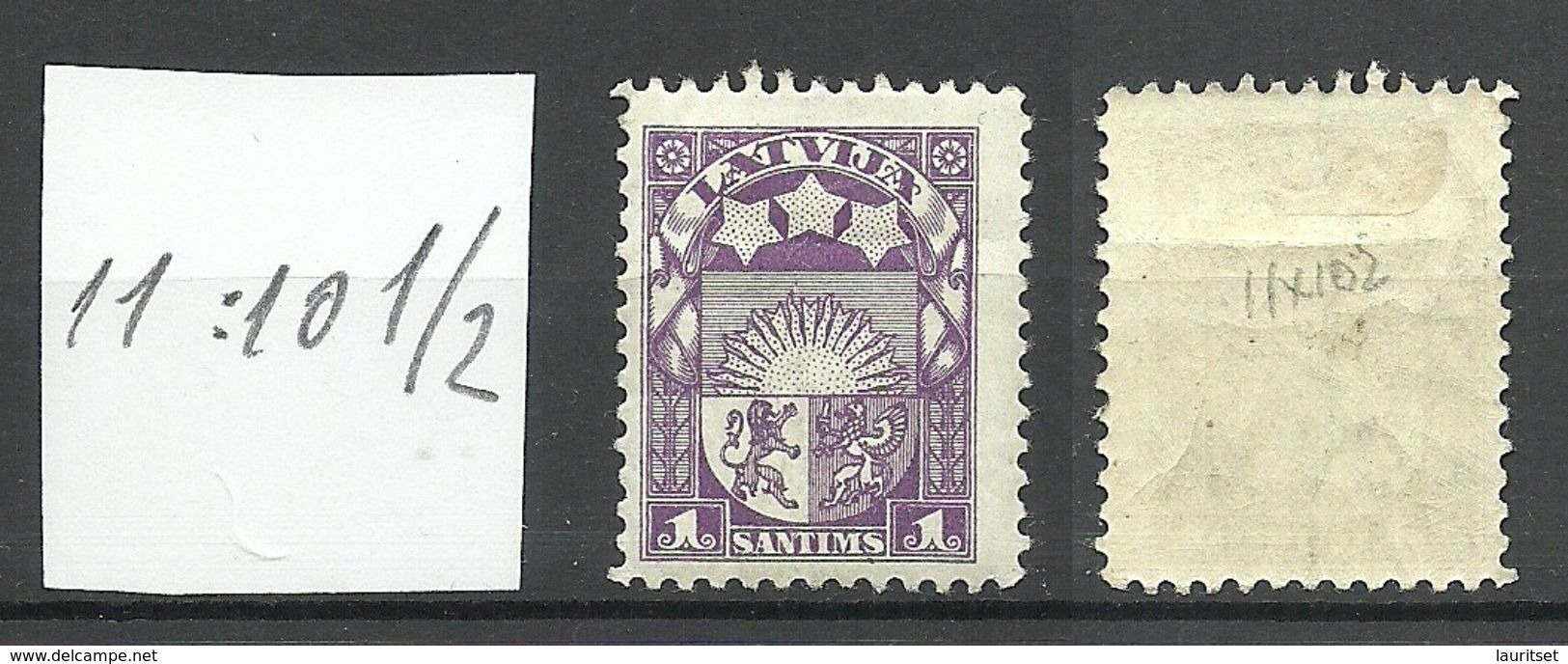 LETTLAND Latvia 1923 Michel 89 Perf 11:10 1/2 * Not Recorded In Hofmann Special Catalogue! - Lettonie