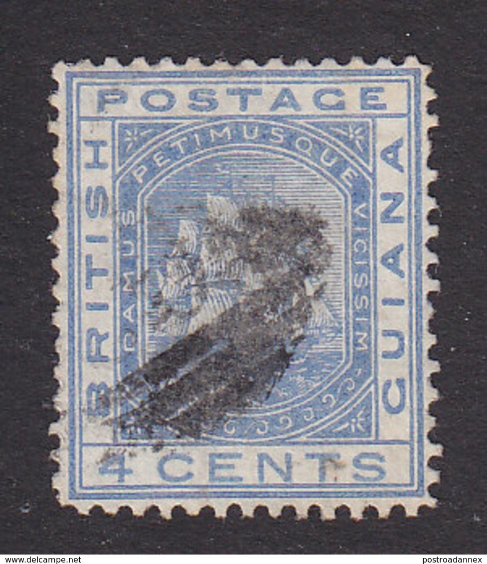 British Guiana, Scott #74, Used, Seal Of The Colony, Issued 1876 - British Guiana (...-1966)