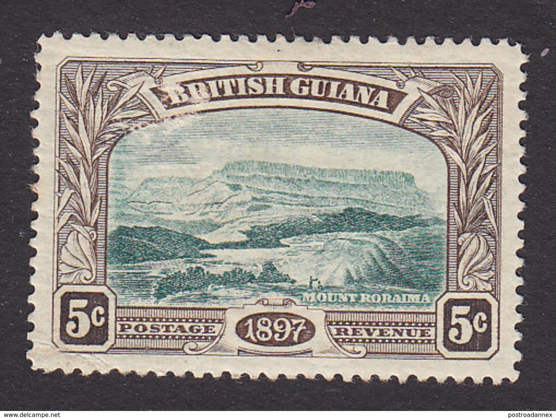 British Guiana, Scott #154, Mint Hinged, Mt Roraima, Issued 1898 - British Guiana (...-1966)